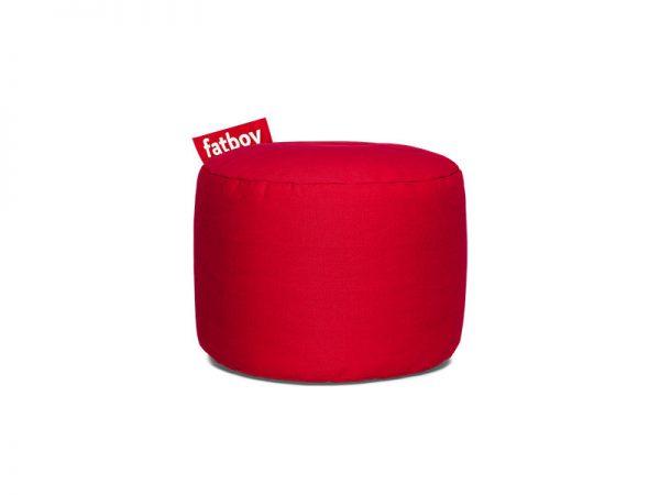 Fatboy Point Stonewashed Poef red